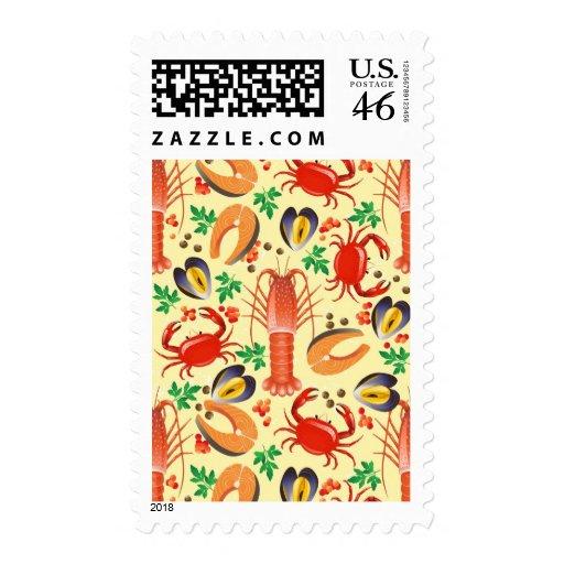 Seafood Pattern Stamp