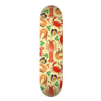 Seafood Pattern Skateboard Deck