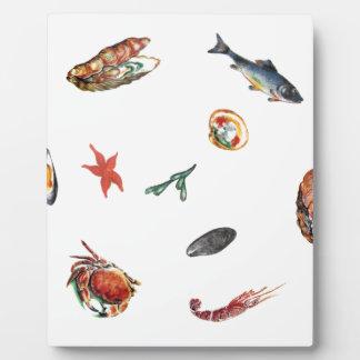 seafood plaque