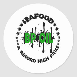 SEAFOOD PRICES CLASSIC ROUND STICKER