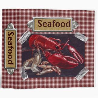 Seafood Recipes Vinyl Binders