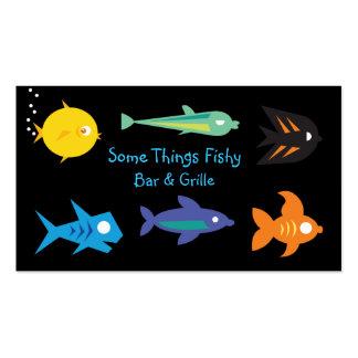 Seafood Restaurant Bar & Grille Biz Card Template