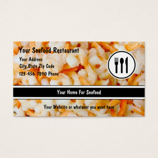 Seafood Restaurant Business Cards