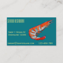 Seafood restaurant or catering business business card