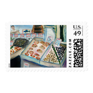 Seafood Sale Postage Stamps (Pike Place Market)
