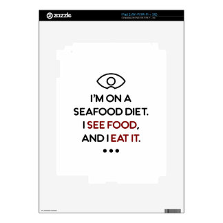 Seafood See Food Eat It Diet Decals For iPad 2