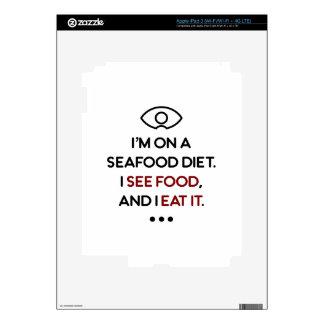 Seafood See Food Eat It Diet iPad 3 Skins