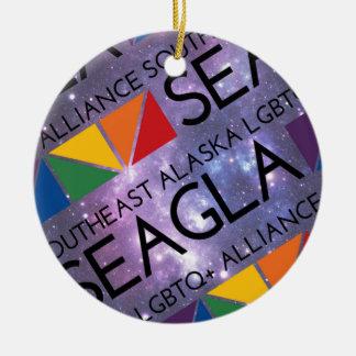 SEAGLA Space Logo Ceramic Ornament