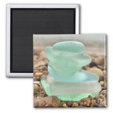 Seaglass and sand magnet