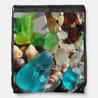Seaglass Backpacks drawstring Sea Glass custom