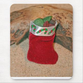 Seaglass Christmas Stocking Mouse Pad