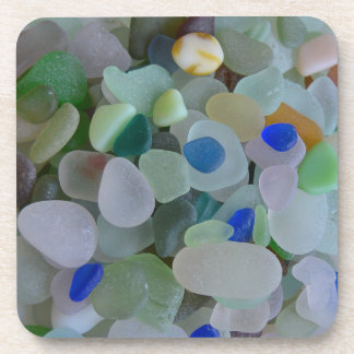 Seaglass Closeup Beverage Coaster