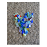 Seaglass Heart1 Postcard