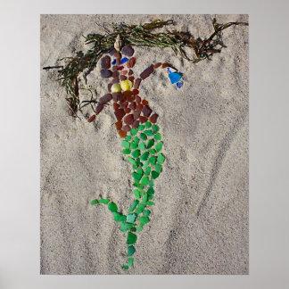 Seaglass Mermaid Poster