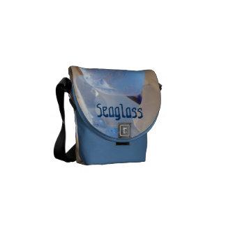 Seaglass Messenger Bags Blue Sea Glass Beach
