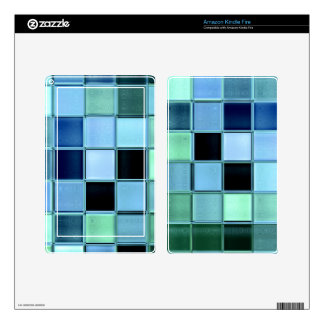 SeaGlass mosaic glass tiles kindle reader skin Kindle Fire Decals