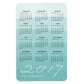Seaglass | Personalized Watercolor 2017 Calendar Magnet