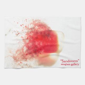 Seaglass rojos que disuelven toalla