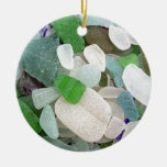 Seaglass Serendipity Double-Sided Ceramic Round Christmas Ornament