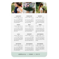 Seaglass Stripe Stripe 2019 3-Photo Calendar Magnet
