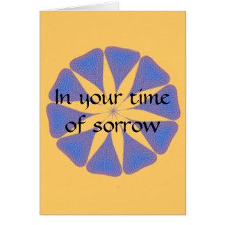Seaglass sympathy card