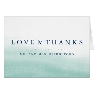 Seaglass Tides Thank You Card