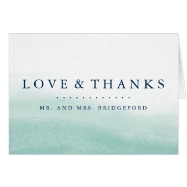 RedwoodAndVine Seaglass Tides Thank You Card