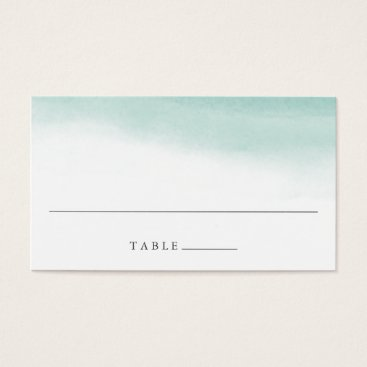 Beach Themed Seaglass Tides Wedding Escort Place Cards