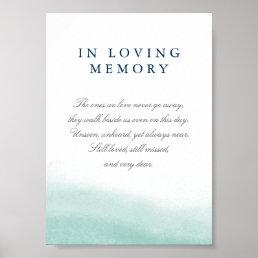 Seaglass Tides Wedding Memorial Sign