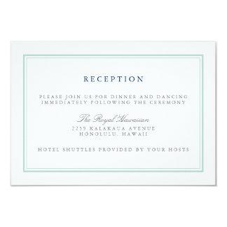 Seaglass Tides Wedding Reception Card