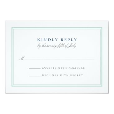 Beach Themed Seaglass Tides Wedding RSVP Card