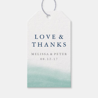 Seaglass Tides Wedding Thank You Favor Gift Tags