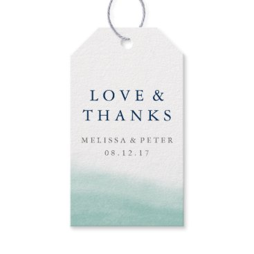 Beach Themed Seaglass Tides Wedding Thank You Favor Gift Tags