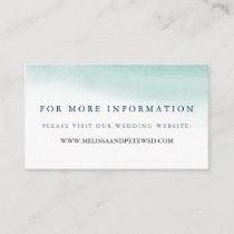 Seaglass Tides Wedding Website Cards