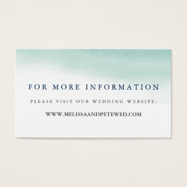 Beach Themed Seaglass Tides Wedding Website Cards