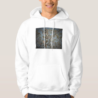 Seagrape plant, pinhole camera style, blue sky hooded sweatshirts