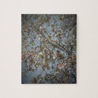 Seagrape plant, pinhole camera style, blue sky jigsaw puzzle