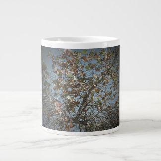 Seagrape plant, pinhole camera style, blue sky 20 oz large ceramic coffee mug