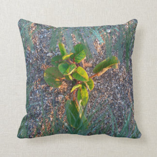 seagrape with grass overlay throw pillow