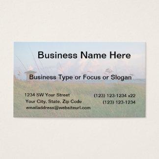 seagrass beach dunes florida lifeguard house business card