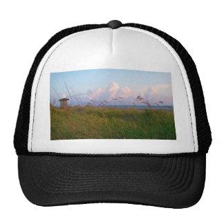 seagrass beach dunes florida lifeguard house trucker hat