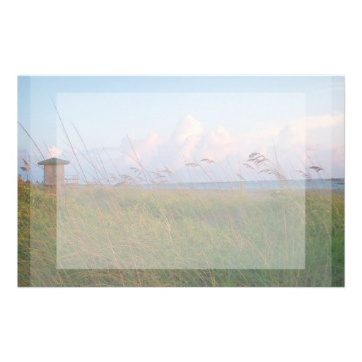 seagrass beach dunes florida lifeguard house personalized stationery