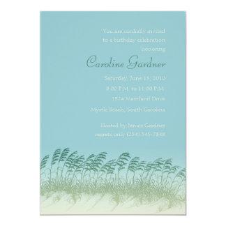 Seagrass en la invitación del cumpleaños de las