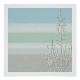 Seagrass in the Mist Poster