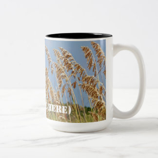 Seagrass on Huntington Beach Two-Tone Coffee Mug