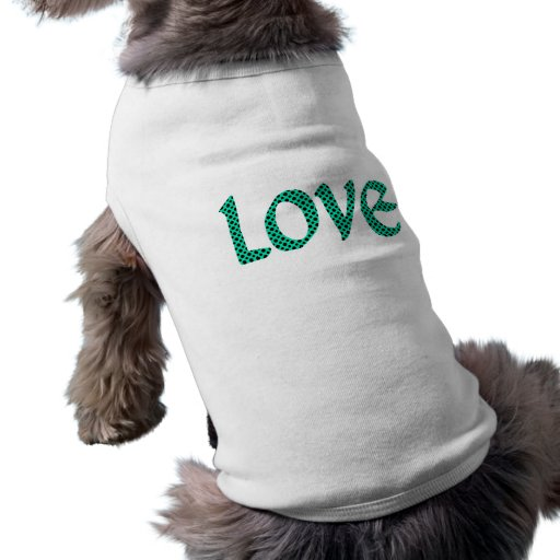 Seagreen Polkadot Love Pet Clothes