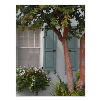 Seagreen Shutters Poster