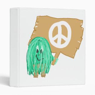 seagreen white peace binder