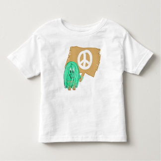 seagreen white peace toddler t-shirt