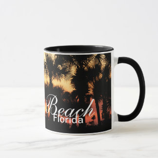 Seagrove Beach, Florida - Sunset and palm trees Mug